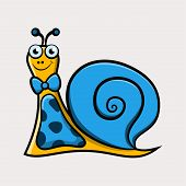 Gentleman Cartoon Snail With Tie
