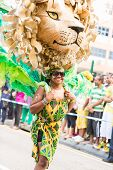 Victoria, Seychelles- April 26, 2014: Performer From Notting Hill Carnival Group  At The Carnival In
