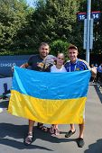 ennis fans from Ukraine at US Open 2014 at Billie Jean King National Tennis Center