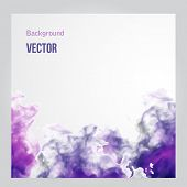 Vector pink cloud. Floral Background Smoke