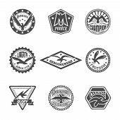 Eagle label icon set