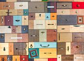Various Little Colorful Drawers