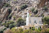 foto of jabal  - Image of mosque on Saiq Plateau in Oman - JPG