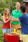Drinking Beer On A Garden Party