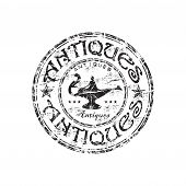 Antiques grunge rubber stamp