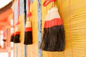 Colorful tassels Charm Pendants in Fushimi Inari Taisha Shrine, Kyoto, Japan.