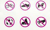 Running track forbidden activites