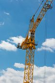 Crane Against The Blue Sky