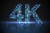 Digitally generated 4k made of digital screens in blue