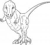vector - dino young T-Rex  isolated on background