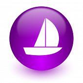 yacht internet icon