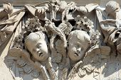 picture of cherub  - Angel cherub sculpture decoration on the exterior of St Paul - JPG
