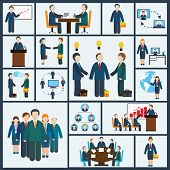 Meeting icons set