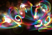 Background abstract image with loops and springs