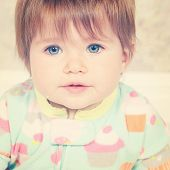 Adorable baby girl - With Instagram effect