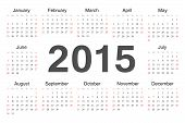Vecto Rcircle Calendar 2015