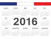 Vecto French Rcircle Calendar 2016