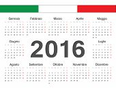 Vector Italian Circle Calendar 2016