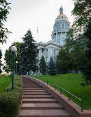 Steps To Entrance Of State Capitol Denver