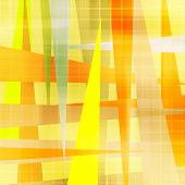 art abstract geometric textured colorful background in gold and red colors