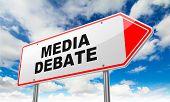 Media Debate on Red Road Sign.