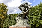 Monument To Chopin In Warsaw's Lazienki Park