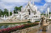 Wat Rong Khun Fountains