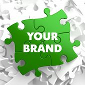 Your Brand on Green Puzzle.