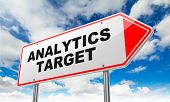 Analytics Target on Red Road Sign.