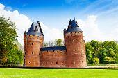 Beautiful Beersel Castle in Brussels, Belgium