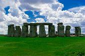 stock photo of megaliths  - ancient Historical landmark monument Stonehenge England UK - JPG