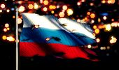 Russia National Flag Torn Burned War Freedom Night 3D