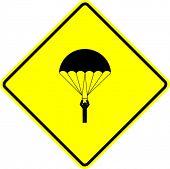 parachutist sign