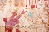Osiris and Seti wall painting