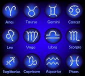 Horoscope Gems Signs Set
