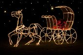 Shining Christmas horse-drawn carriage
