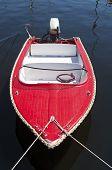 Red Motorboat