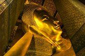 picture of status  - Golden Buddha image status in Wat Pho Bangkok - JPG