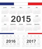 Vecto French Rcircle Calendars 2015, 2016, 2107
