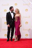 vLOS ANGELES - AUG 25:  Jon Hamm, Jennifer Westfeldt at the 2014 Primetime Emmy Awards - Arrivals at Nokia at LA Live on August 25, 2014 in Los Angeles, CA