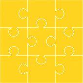 9-piece blank jigsaw puzzle