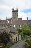 stock photo of hamlet  - A view of the rural hamlet of Collessie in Fife - JPG
