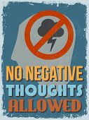 stock photo of positive negative  - Retro Vintage Motivational Quote Poster - JPG