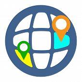 Geo Targeting Icon. Flat Style Illustration.