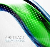 Wave abstract layout design - business hi-tech futuristic conceptual backdrop, wallpaper, background