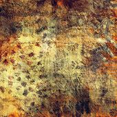 art abstract colorful acrylic and pencil background in green, grey, orange and brown colors