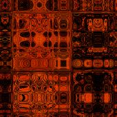 art abstract colorful geometric seamless pattern; background in brown and red colors