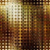 art abstract pixel geometric seamless pattern; background in brown, gold, olive, green and white col