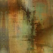 art abstract geometric pattern blurred background in beige, green, orange, black and brown colors