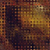 art abstract pixel geometric seamless pattern; background in brown, green and gold colors